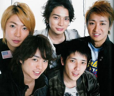O grupo Arashi, um dos grupos vocais masculinos mais conhecidos no Japão