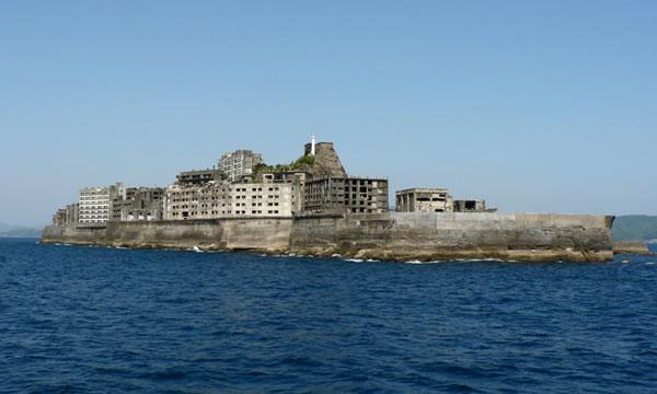 """Hashima Island - """"Battleship Island""""(軍艦島; """"gunkan jima"""")"""